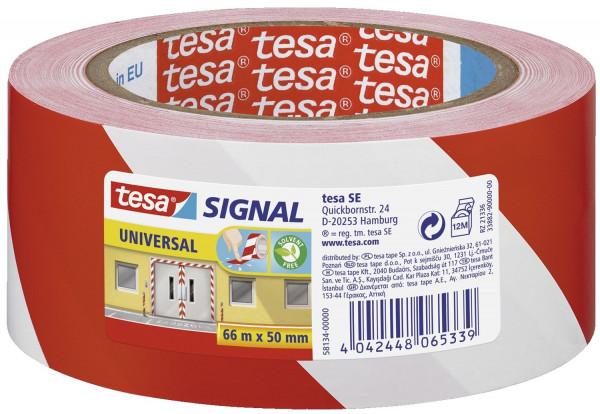 Markierungsklebeband Universal - rot/weiß - 66 mm x 50 m