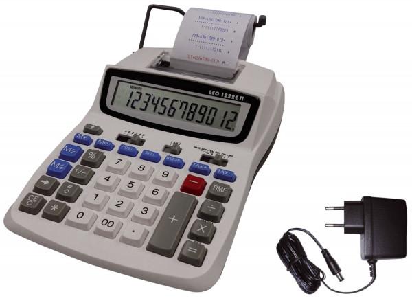 LEO® 1222E II druckender Tischrechner weiß
