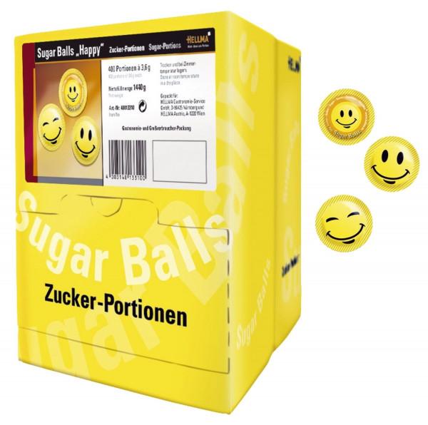 """Hellma Zuckerportionen - Sugar Balls """"Happy"""""""