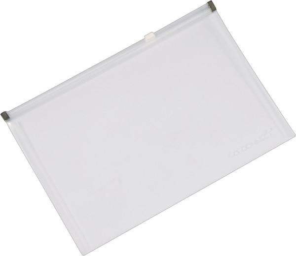Q-Connect Reißverschlusstasche A4 transparent