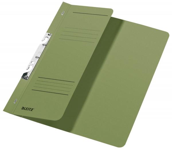 Leitz 3744 Schlitzhefter,grün halber Vorderdeckel, A4, kfm. Heftung, Manilakarton 250 g/qm