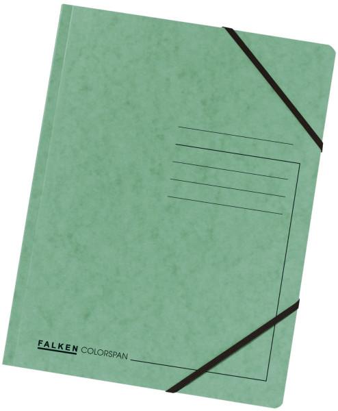 Falken Eckspanner A4 Colorspan intensiv grün, Karton 355 g/qm