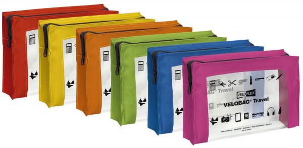 Veloflex® Reißverschlusstasche VELOCOLOR® Travel - PVC, sortiert, 230 x 160 mm