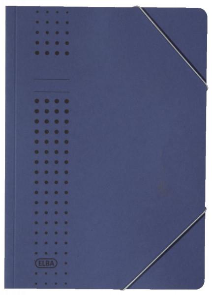 Elba Eckspanner chic, dunkelblau Karton (RC), 320 g/qm, A4
