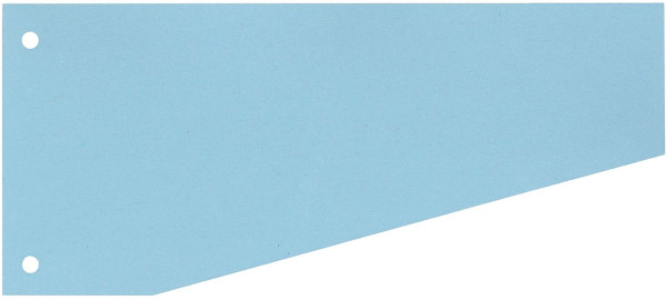 Trennstreifen Trapez - 190 g/qm Karton, blau, 100 Stück