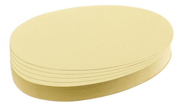 Moderationskarte, Oval, 190 x 110 mm, gelb, 500 Stück
