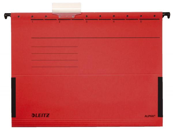 Leitz 1986 Hängetasche ALPHA® rot - seitlich mit Fröschen, Recyclingkarton,