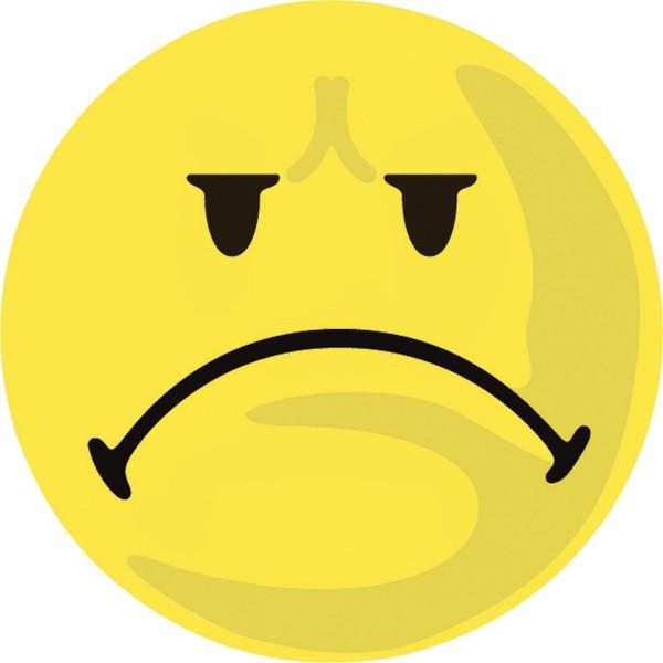 Moderationskarte Wertungssymbol, Gesicht negativ, gelb, 100 Stück
