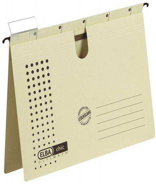 Hängehefter chic ULTIMATE® - Karton (RC), 240 g/qm, A4, chamois, 5 Stück