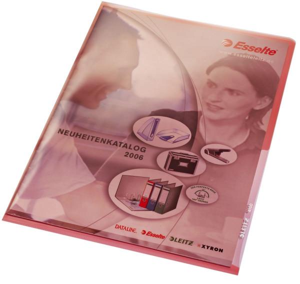 Leitz 4100 Sichthülle Premium, rot, A4, PVC, dokumentenecht,