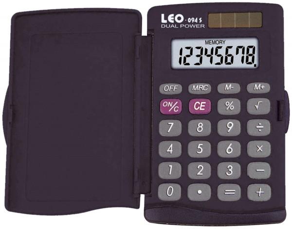 LEO® Solar-Taschenrechner 094S, schwarz, 8-stellig, Hard-Cover