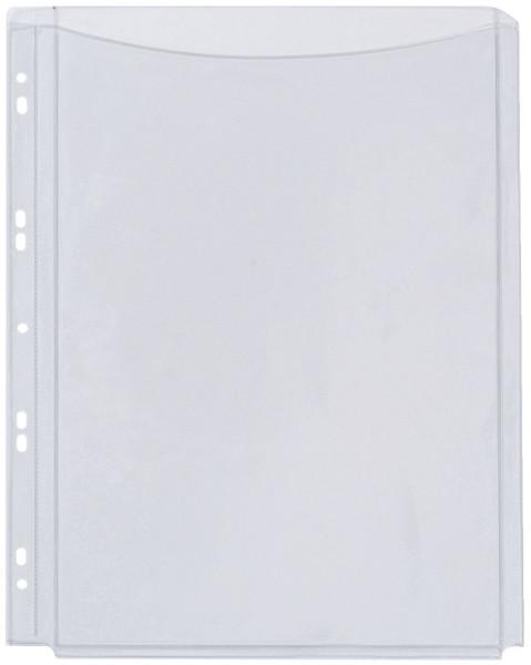 Q-Connect Klarsichthüllen für Kataloge - glasklar, 0,18 mm, A4, Folie volle Höhe, 5 Stück