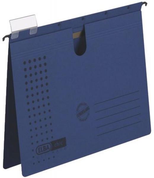 Hängehefter chic ULTIMATE® - Karton (RC), 240 g/qm, A4, dunkelblau, 5 Stück