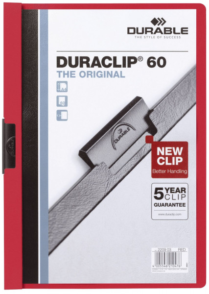 Klemm-Mappe DURACLIP® 60, DIN A4, rot