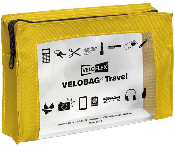 Veloflex® Reißverschlusstasche VELOCOLOR® Travel - PVC, gelb, 230 x 160 mm