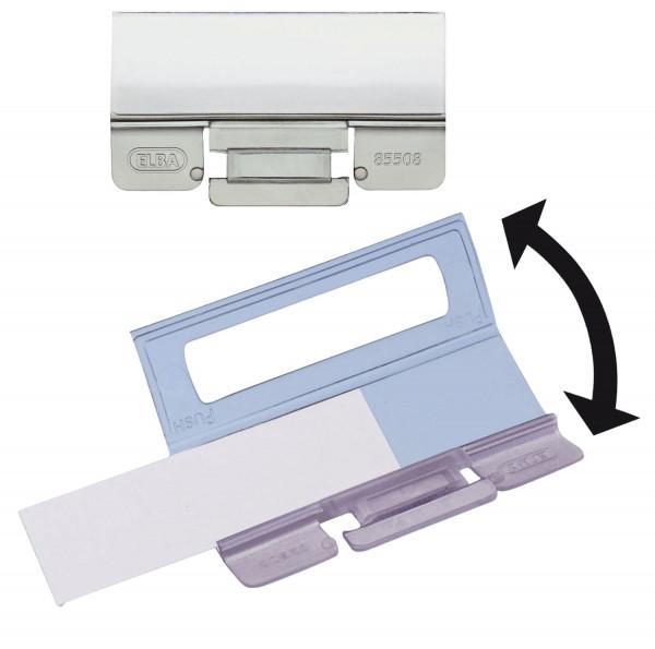 vertic® Komfort-Sichtreiter, 58 x 20 mm, 4-zeilig, 25 Stück
