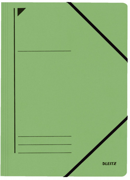 Leitz 3980 Eckspanner, grün, A4, Füllhöhe 250 Blatt, Pentarec-Karton