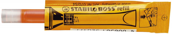 Nachfüllsystem Stabilo® BOSS® ORIGINAL refill, ORIGINAL, 3 ml, orange