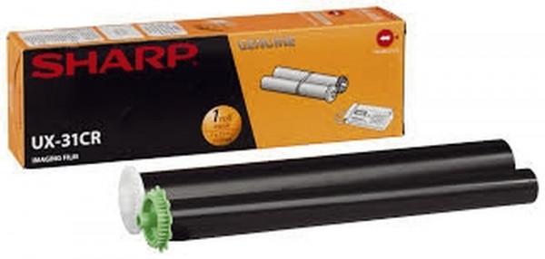 SHARP Thermotransfer-Rollen schwarz, 100 Seiten, UX31CR