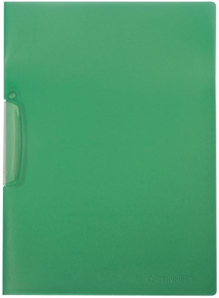 Q-Connect Klemm-Mappe grün, Fassungsvermögen bis 25 Blatt