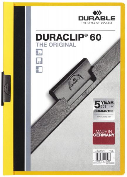 Klemm-Mappe DURACLIP® 60, DIN A4, gelb