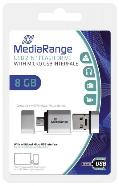 USB Mobile 2 in 1 OTG USB-Stick 8GB
