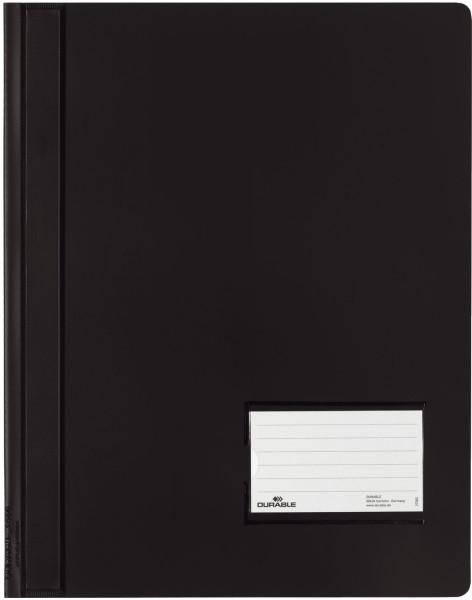 Schnellhefter DURALUX® - transluzente Folie, für A4 überbreit, schwarz