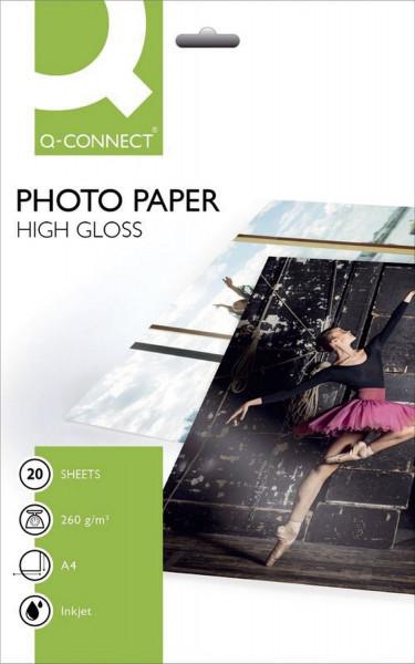Inkjet-Photopapiere - A4, hochglänzend, 260 g/qm, 20 Blatt