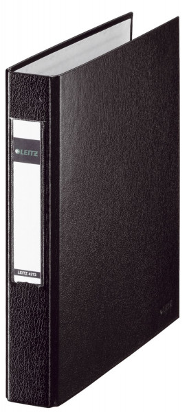4213 Standard Ringbuch - A5, 25mm, 2 Ringe, PP, schwarz