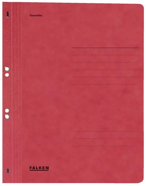 Falken Ösenhefter A4 ganzer Vorderdeckel, rot, Manilakarton, 250 g/qm