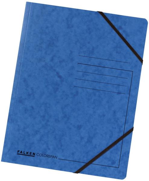 Falken Eckspanner A4 Colorspan intensiv blau, Karton 355 g/qm