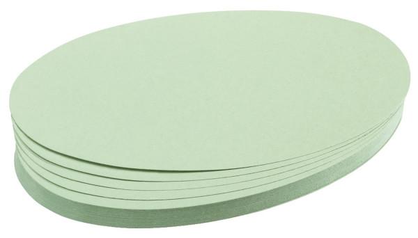 Moderationskarte, Oval, 190 x 110 mm, hellgrün, 500 Stück