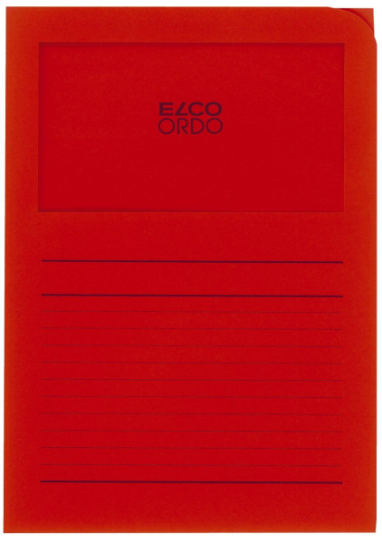 Elco Sichtmappen Ordo classico, mit Sichtfenster, intensiv rot, 100 Stück