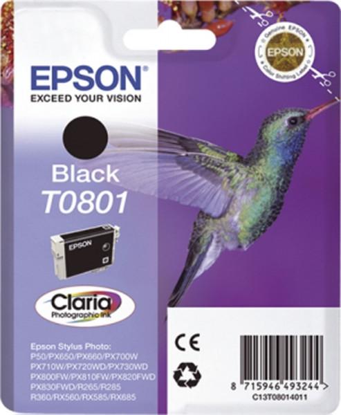 Epson T0801 Inkjet-Druckpatronen schwarz, 300 Seiten, C13T08014011