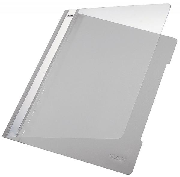 Leitz 4191 PVC Hefter grau Standard, A4, langes Beschriftungsfeld