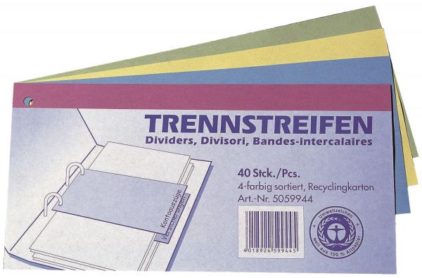 Q-Connect Trennstreifen - 190 g/qm Karton, sortiert, 40 Stück
