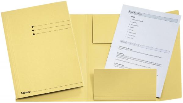 Jurismappe, A4, Manilakarton 275 g/qm, gelb