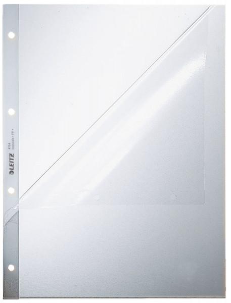Leitz 4784 Prospekthüllen, A4 oben und Lochseite offen, Oberteil mitgelocht, genarbt 0,13 mm