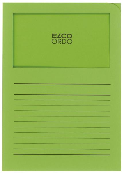 Elco Sichtmappen Ordo classico, mit Sichtfenster, intensiv grün, 100 Stück
