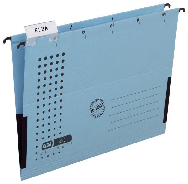 Elba Hängetasche chic ULTIMATE®, blau, Karton (RC), 230 g/qm, A4