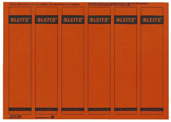 1686 PC-beschriftbare Rückenschilder - Papier, kurz/schmal, 150 Stück, rot