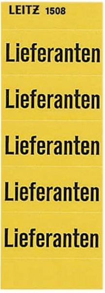 1508 Inhaltsschild Lieferanten, selbstklebend, 100 Stück, gelb