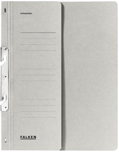 Falken Einhakhefter A4 grau halber Vorderdeckel kfm. Heftung, Manilakarton, 250 g/qm