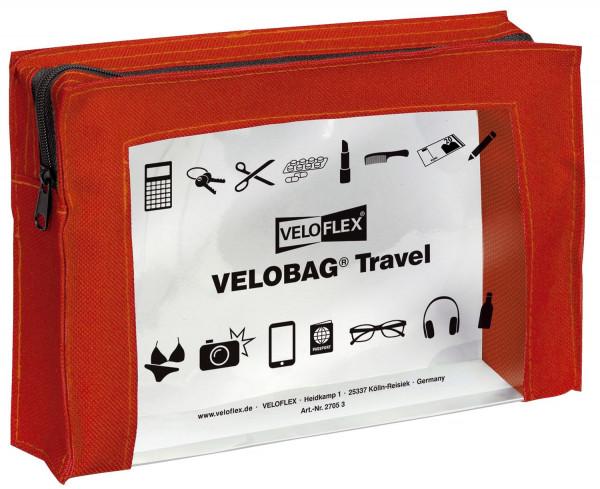 Veloflex® Reißverschlusstasche VELOCOLOR® Travel - PVC, rot, 230 x 160 mm