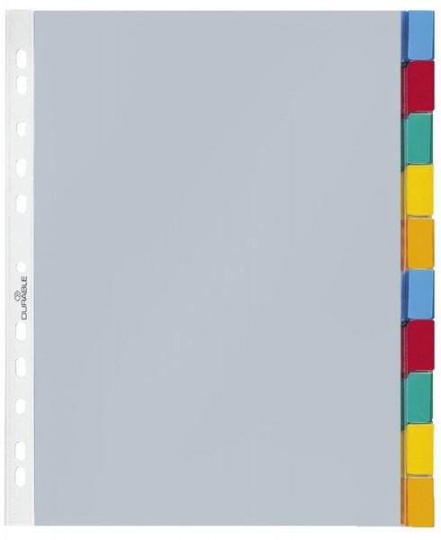 Durable 6632 Hüllenregister Folie, blanko, transparent, A4, 10 Blatt