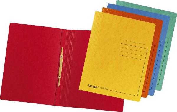 Falken Schnellhefter Colorspankarton - für DIN A4, sortiert, 10 Stück