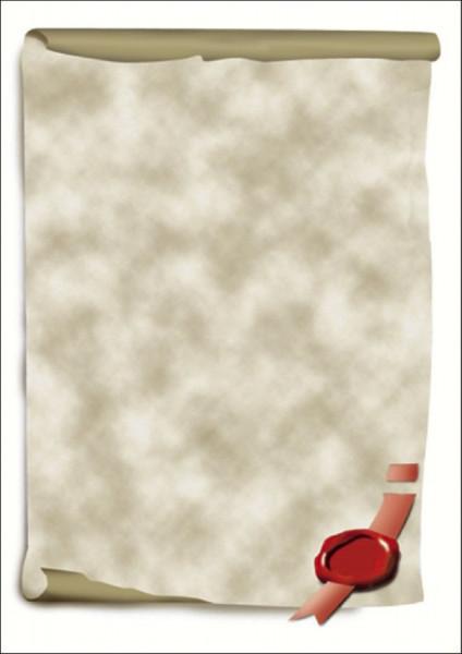 Motiv-Papier, Urkundenrolle, A4, 185 g/qm, 12 Blatt
