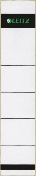 1643 Rückenschilder - Papier, kurz/schmal, 10 Stück, hellgrau