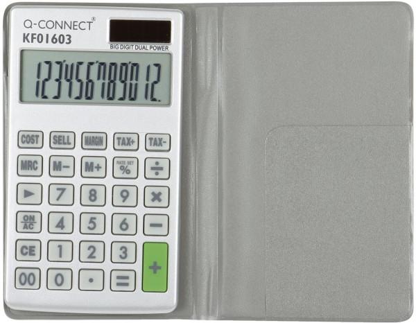 Q-Connect Taschenrechner, weiß, 10-stellig