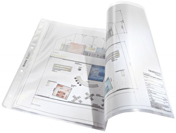 Leitz 4723 Prospekthülle A3 quer Premium mit Einreißschutz, PP, genarbt, farblos